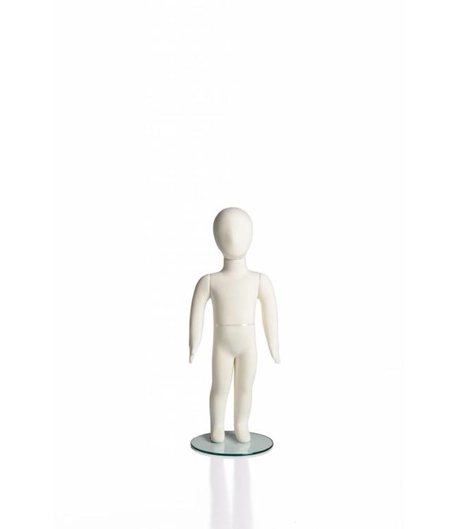 """2 years old kid flexible mannequin, 31""""H, cream fabric"""