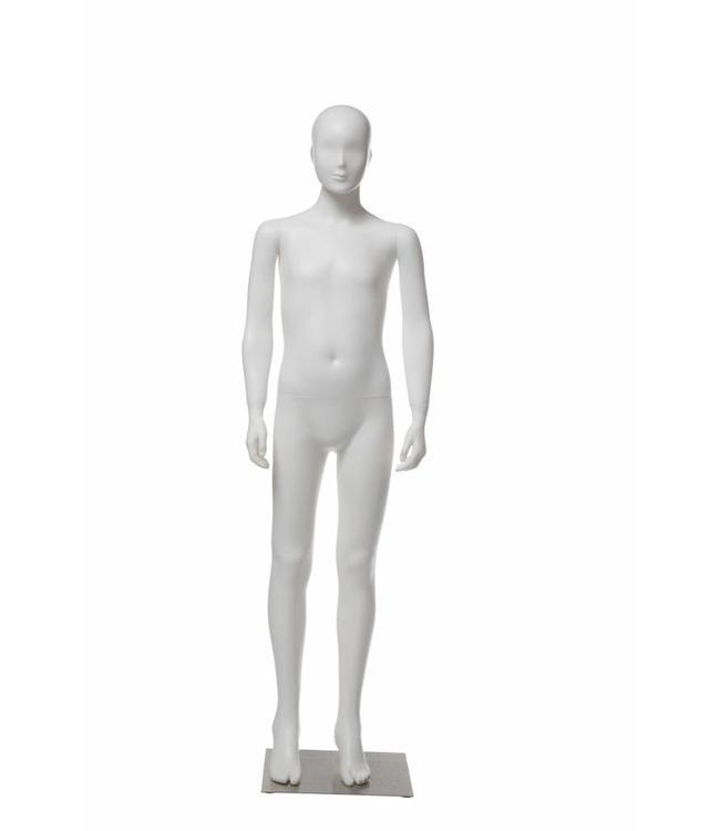 """Mannequins enfant plastique 10-12 ans blanc 66""""H"""