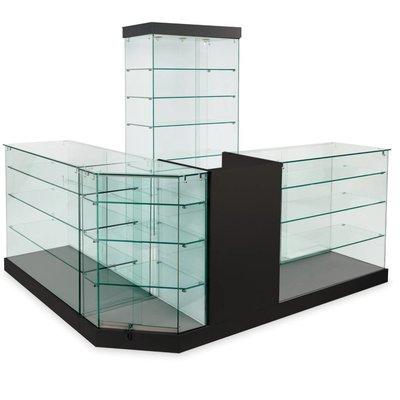 Présentoirs vitrés en verre trempé 9.5mm
