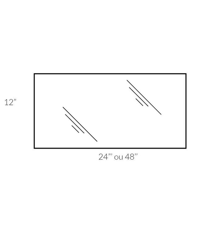 """12"""" x 48"""" x 5mm tempered glass"""