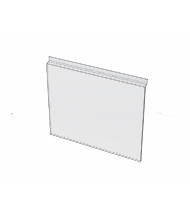 "Sign holder 8-1/2"" x 11""H for slatwall, acrylic"