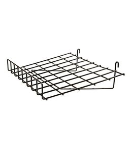 "Shelf wire slanted 24"" x 15"" with 3"" lip for grid"