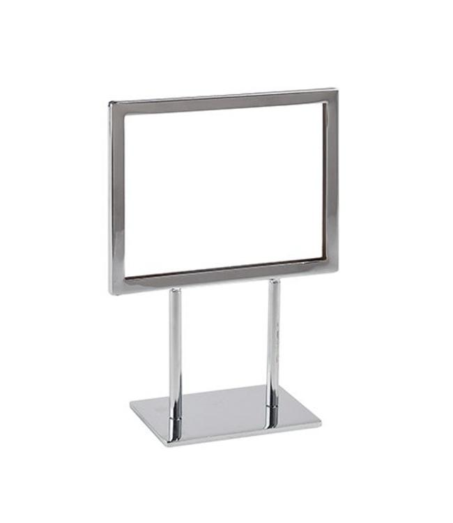 "Horizontal frame with base 11"" x 7"" H, chrome"