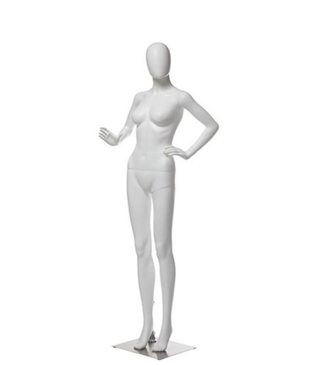 Female mannequin white plastic, choice of head
