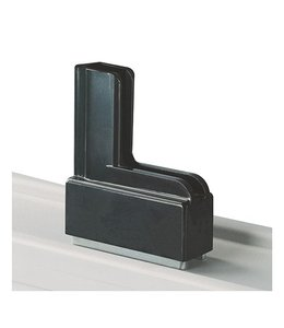 Moulded plastic base with magnet