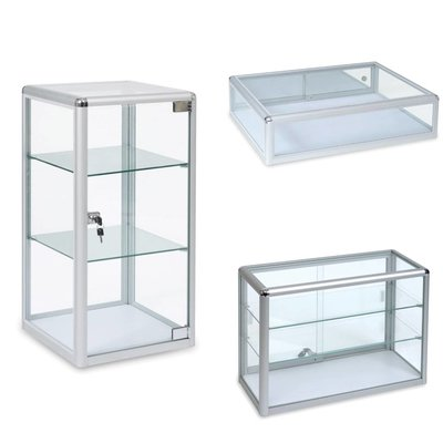Counter top glass displays