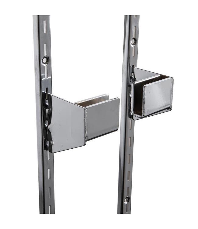 """Hangrail bracket for rectangular tubing, slots 1/2""""-1""""oc"""