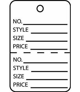 """Étiquette 2 parties ANGLAIS 1.625"""" x 2.5""""H"""