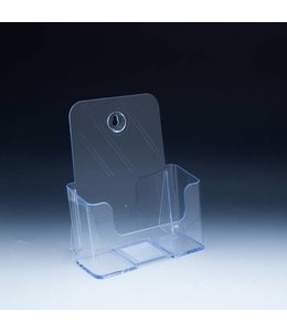 "Countertop & wall  brochure holder 6-3/4"" x 3-3/4"" x 7-3/4""H"
