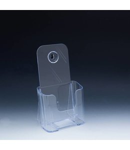 "Countertop & wall brochure holder 4-3/8"" x 3-1/4"" x 7-3/4""H"