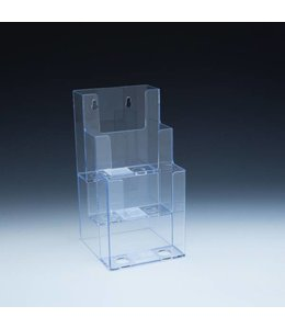 """3 level counter/wall/SW brochure holder 4-1/2""""x5-1/2""""x9""""H"""