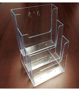 """3 level counter/wall/SW brochure holder 6-1/4"""" x 6"""" x 9-3/8""""H"""