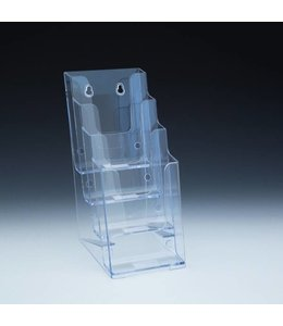 """4 level counter/wall/SW brochure holder 4-1/8""""  x 6"""" x 10""""H"""