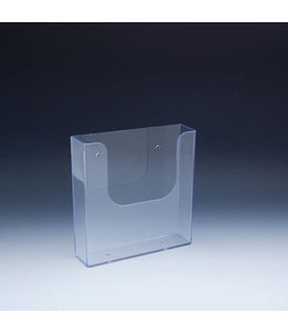 "Wallmount/SW/Slatgrid brochure holder 6-3/8'' x 1-11/16'' x 6-1/2""H"