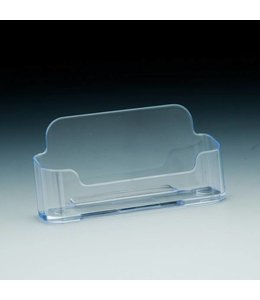 Business card holder, horizontal 4'' x 1-1/2'' x 2-1/4''H
