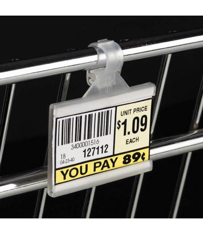 """Porte-prix pour fil métallique 2""""x 1-1/4""""H"""