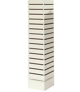 Revolving tower 12''x 12''x 54''H white or maple