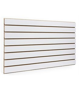 "Slatwall Panel 96""x 48''H grooved on the 96"", white"