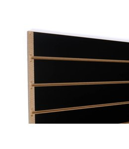 "Slatwall Panel 96""x 48''H grooved on the 96"", black"