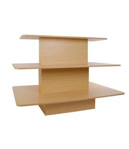 """Table rectangulaire 3 niveaux 60""""X42""""X42""""H  Érable"""