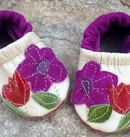Starry Knight Design Applique Shoes Flower Garden
