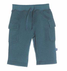 Kickee Pants Kickee Pants Solid Cargo Pants Peacock