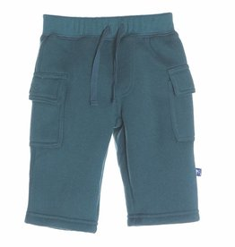 Kickee Pants Solid Cargo Pants Peacock