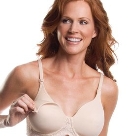 Leading Lady 407 Lace Wirefree Nursing Bra Nude 40 D
