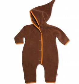 Zutano Elf Romper Fleece Chocolate