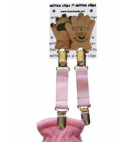 Bear Hands Infant Pink Mitten Clips