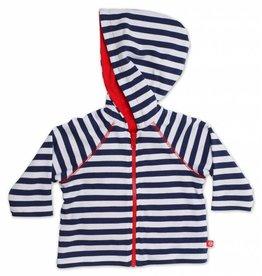 Zutano Primary Stripe Reversible Zip Hoodie