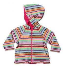 Zutano Super Stripe Reversible Zip Hoodie