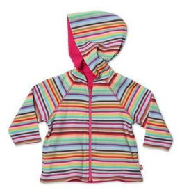 Zutano Zutano Super Stripe Reversible Zip Hoodie