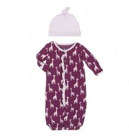 Kickee Pants Kickee Pants Gown Converter & Hat Set Melody Giraffe