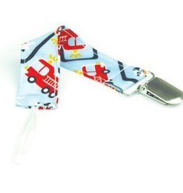 Bumkins Bumkins 2 pack Pacifier Clip  Fire Engine Single