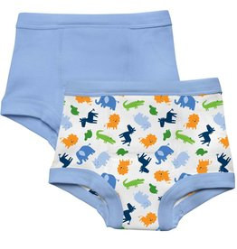 Green Sprouts Training Pants Blue Jungle