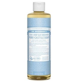 Dr. Bronner's Pure Castile Soap Unscented Baby-Mild Soap 16 FL. oz.