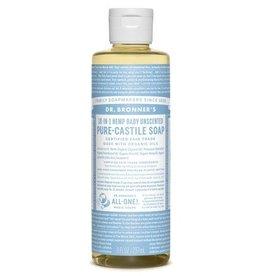 Dr. Bronner's Pure Castile Soap Unscented Baby-Mild Soap 8 FL. oz