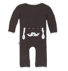 Kickee Pants Applique Coverall Bark Seals