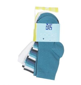 Kickee Pants Sock Set Natural, Boy Forest Stripe & Bay