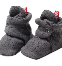 Zutano Fleece Booties Gray