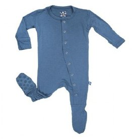 Kickee Pants Kickee Pants Basic Footies with Paws Twilight 18-24m