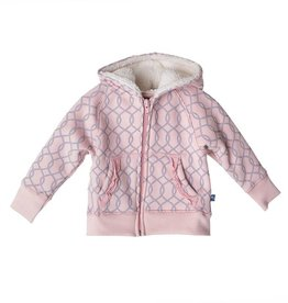 Kickee Pants Zip Hoodie Sweat Pea Lattice 12-18 Months