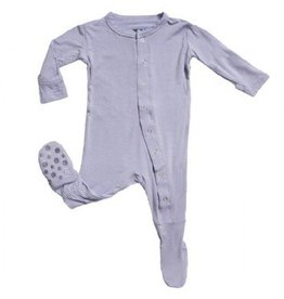 Kickee Pants Kickee Pants Basic Footies with Paws Lilac 0-3m