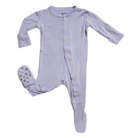 Kickee Pants Kickee Pants Basic Footies with Paws Lilac 3-6m