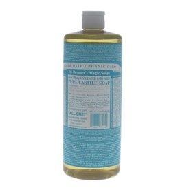 Dr. Bronner's Pure Unscented Baby-Mild Castille Soap Liquid 32 fl oz
