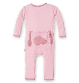 Kickee Pants Kickee Pants Applique Coverall Lotus Porcupine