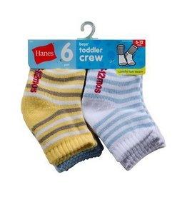 Hanes Hanes Boys 6 pack Socks