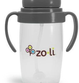 Zoli Bot 2.0 Straw Sippy Cup Gray