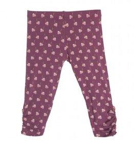 Kickee Pants Kickee Pants Print Leggings w/ Heart Buttons Amethyst Berries 2T